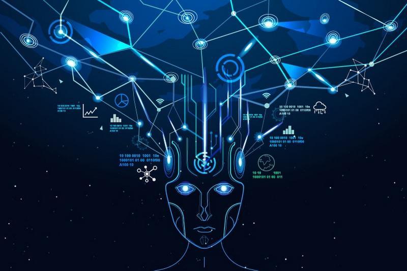 Abstrakte Darstellung einer Künstlichen Intelligenz