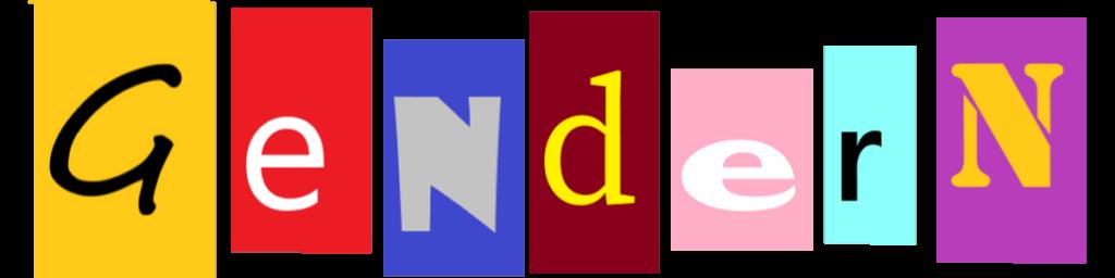 Bunte Buchstaben, die das Wort Gendern bilden.